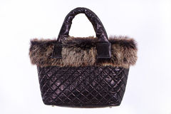 Women Winter leather handbag Stock Photography