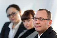 Women With Girl And Men In Glasses Royalty Free Stock Photo