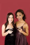 Women With Wine Royalty Free Stock Photos