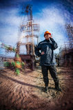 Women worker. Oil &gas industry. Royalty Free Stock Images