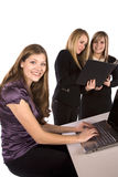 Women working and being happy Royalty Free Stock Image