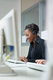 Women working in call center Stock Photos