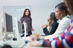 Women working in call center Stock Images