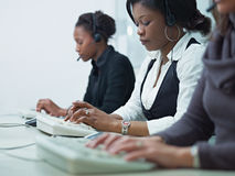 Women working in call center Royalty Free Stock Image