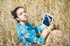 Women working  notebook Royalty Free Stock Photo