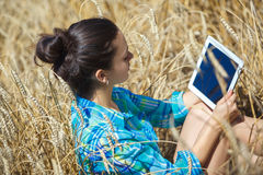 Women working  notebook Royalty Free Stock Image