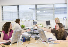 Women working in an office Stock Photo