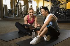Women working out. Royalty Free Stock Image