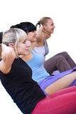 Women working out in gym Royalty Free Stock Photo