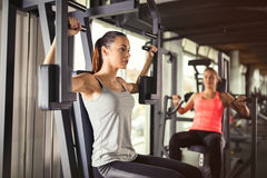 Women working out in gym Stock Image