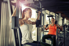 Women working out in gym Stock Photography