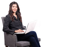 Women on working in studio Royalty Free Stock Photography