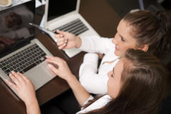 Women working together Royalty Free Stock Image