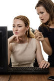 Women working together Royalty Free Stock Photos