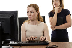 Women working together Stock Images
