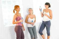 Women after workout Stock Photos