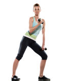 Women workout biceps Stock Image