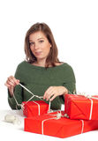 Women wrapping Stock Photos