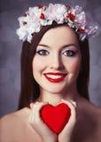 Women with wreath Royalty Free Stock Photos
