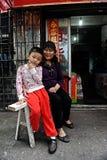 Women in Wuyuan County, Jiangxi, China Royalty Free Stock Image