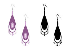 Women& x27 ; boucles d'oreille de s Illustration de vecteur d'isolement Photo stock