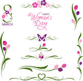 Women&#x27 internacional; saludo del día de s Fotos de archivo