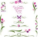 Women&#x27 international ; salutation de jour de s Photos stock