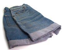 Women& x27; pantalones cortos de los vaqueros de s Foto de archivo libre de regalías