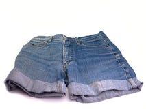 Women& x27; pantalones cortos de los vaqueros de s Fotografía de archivo libre de regalías