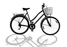 Women's bike Royalty Free Stock Images