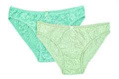 Women& x27;s cotton panties flowered isolated on white background. Stock Photography