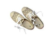 Women& x27 ; s folâtre des chaussures Images stock