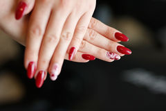 Women's hands with manicure Royalty Free Stock Photos