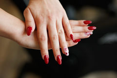 Women's hands with manicure Royalty Free Stock Photography