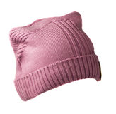 Women& x27;s knitted hat isolated on white background. Royalty Free Stock Photography