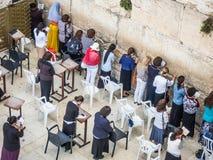 Women' s sectie van de Westelijke Muur in Jeruzalem, Israël Royalty-vrije Stock Foto's