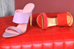Women Shoes. Lady leather handmade shoes Royalty Free Stock Photos