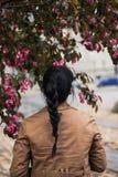 Women's Brown Jacket Royalty Free Stock Image