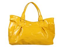 Women yellow bag Royalty Free Stock Photos