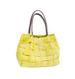 Women yellow bag. On a white background isolated royalty free stock photos
