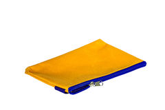 Women yellow cosmetic bag Stock Images