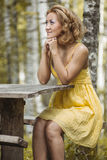 Women in yellow Royalty Free Stock Photography
