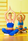 Women in yoga stock images