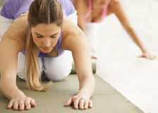 Women in yoga class Stock Photography