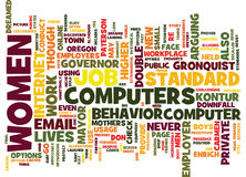 For Women Only Your Computer Usage Could Cost You Your Job Text Background  Word Cloud Concept Stock Images