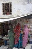 Womenat rynek w India Zdjęcia Stock