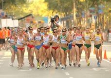 Womens 20km Walk Final Royalty Free Stock Photography