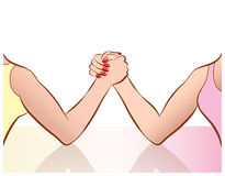 Womens Arm Wrestling Stock Photos