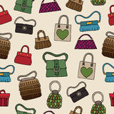 Womens bags pattern Royalty Free Stock Images