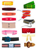 Womens belts. Set of womens belts isolated on white background royalty free illustration